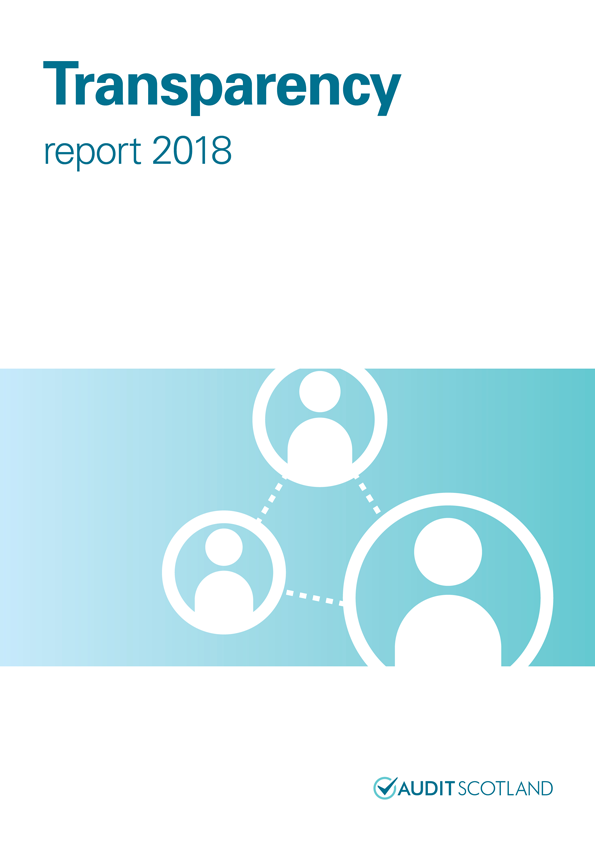 Report cover: Transparency report 2018