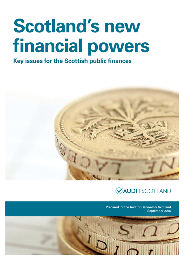 Report cover: Scotland's new financial powers