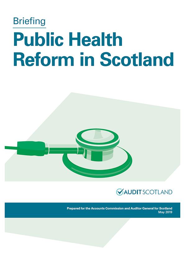 Report cover: Public Health Reform in Scotland