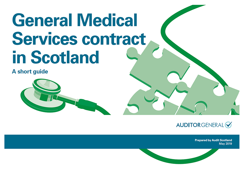 Report cover: General Medical Services contract in Scotland: a short guide