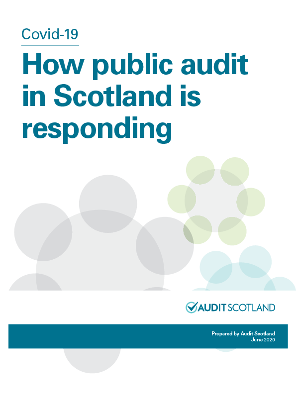 Report cover: Covid-19: How public audit in Scotland is responding