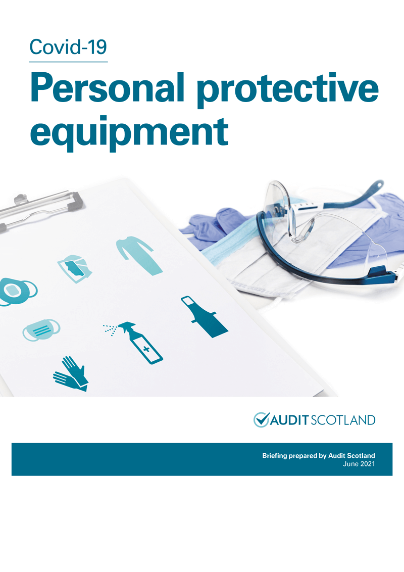 Report cover: Covid-19: Personal protective equipment