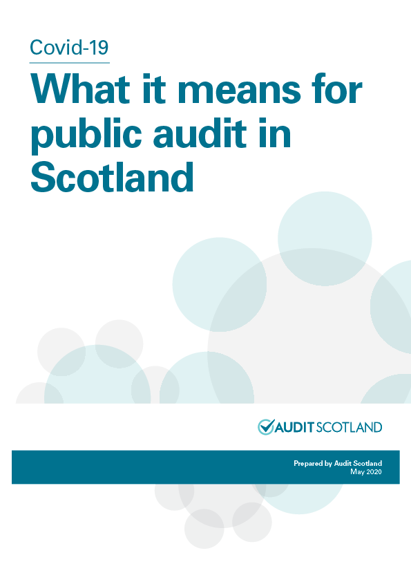 Report cover: Covid-19: Impact on public audit in Scotland