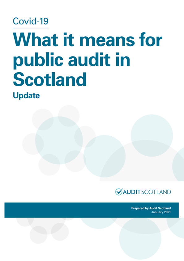 Report cover: Covid-19: What it means for public audit in Scotland