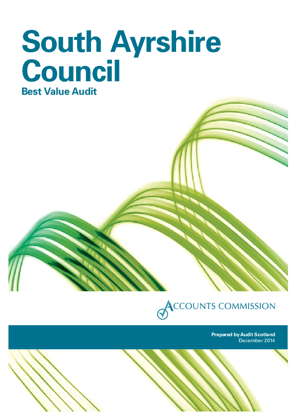 Report cover: South Ayrshire Council: Best Value Audit