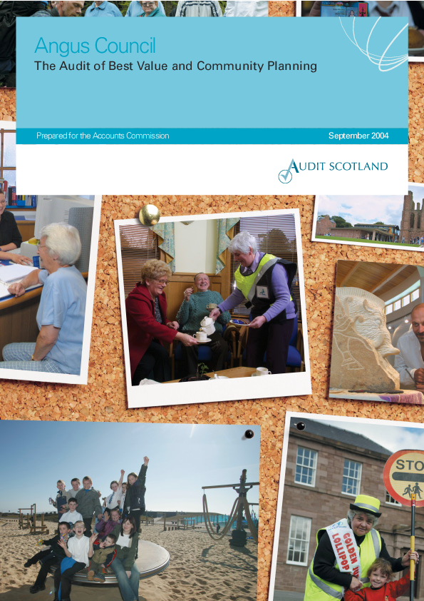 Report cover: Angus Council: The Audit of Best Value and Community Planning