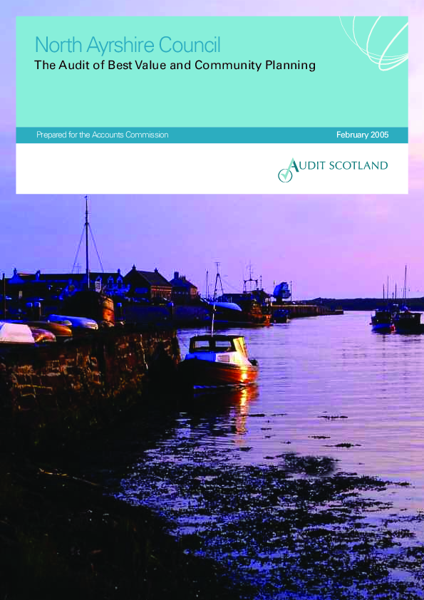 Report cover: North Ayrshire Council: The Audit of Best Value and Community Planning 2005