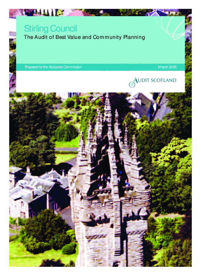 Report cover: Stirling Council: The Audit of Best Value and Community Planning 2005