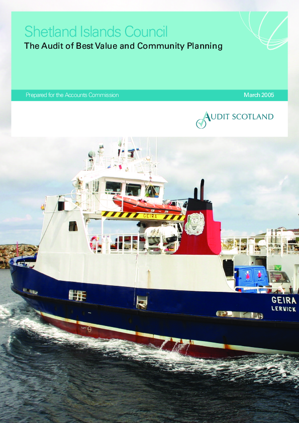 Report cover: Shetland Islands Council: The Audit of Best Value and Community Planning