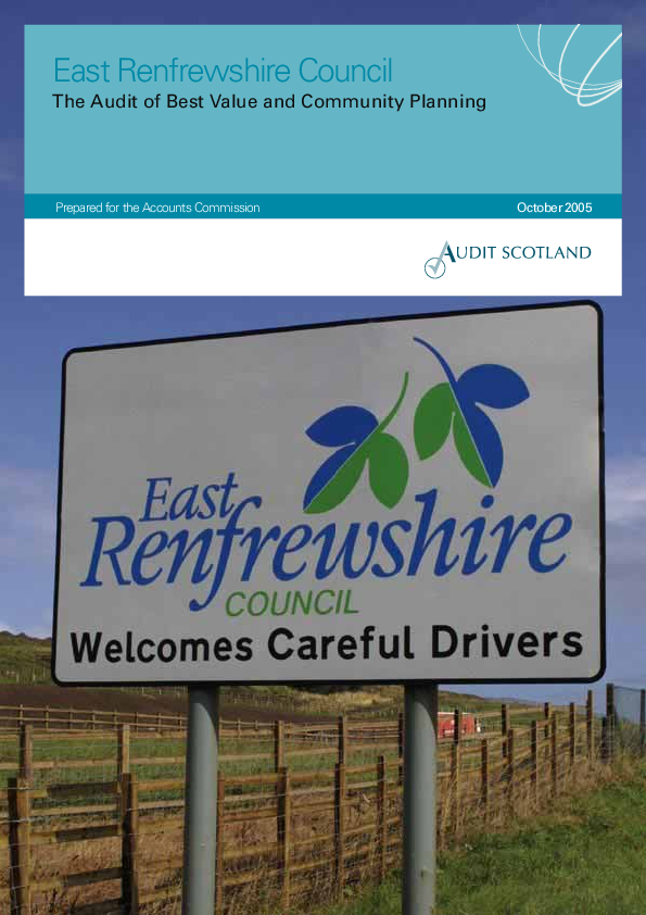 Report cover: East Renfrewshire Council: The Audit of Best Value and Community Planning