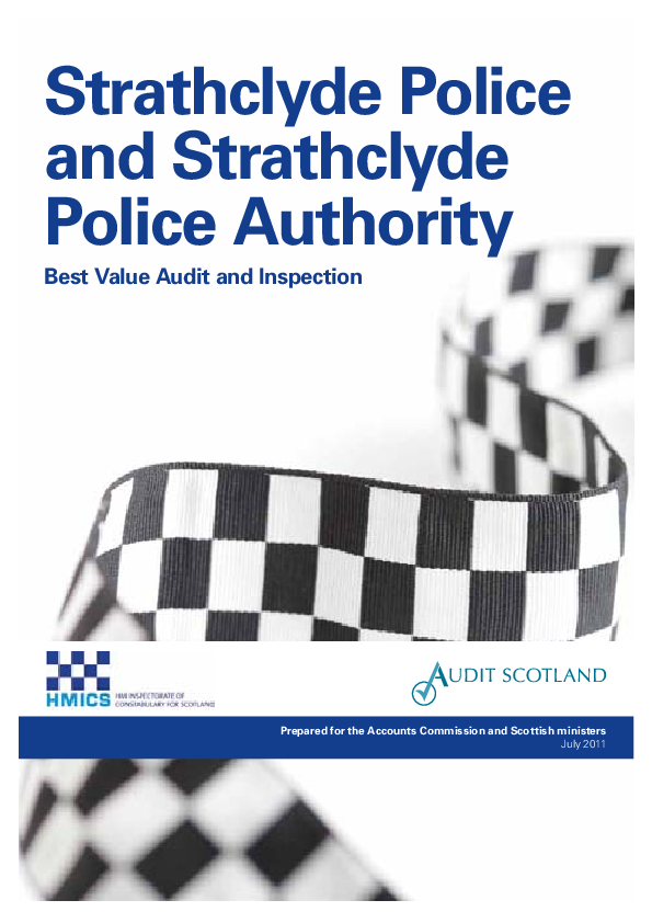 Report cover: Strathclyde Police and Strathclyde Police Authority