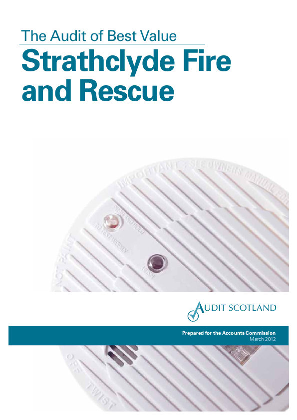 Report cover: Strathclyde Fire and Rescue