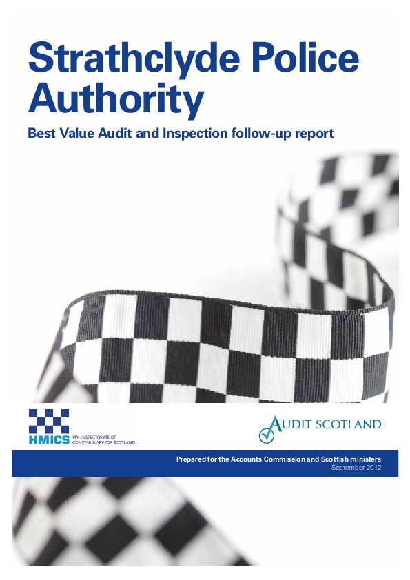 Report cover: Strathclyde Police Authority