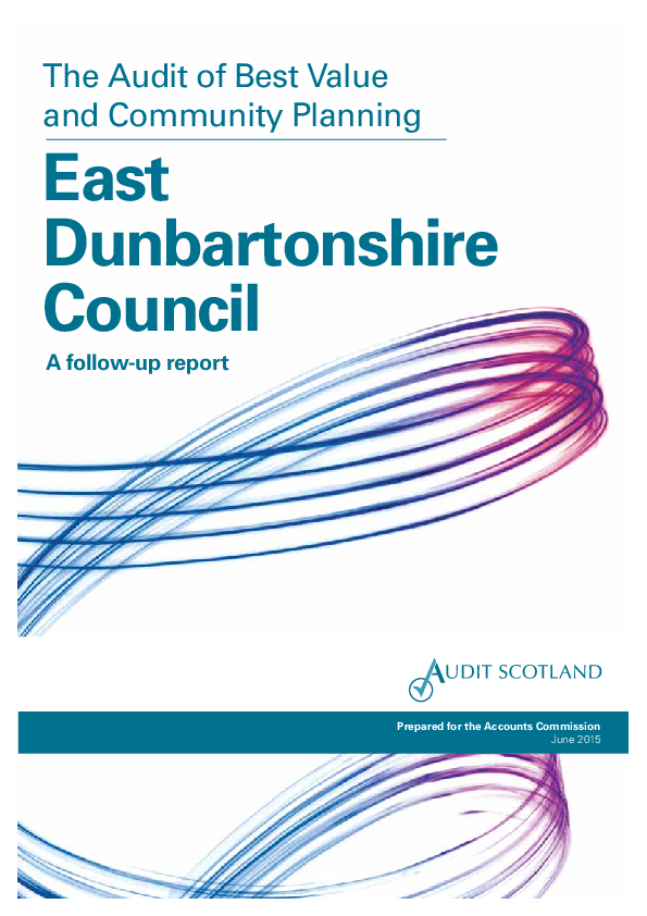 Report cover: East Dunbartonshire Council: the Audit of Best Value and Community Planning – a follow-up report