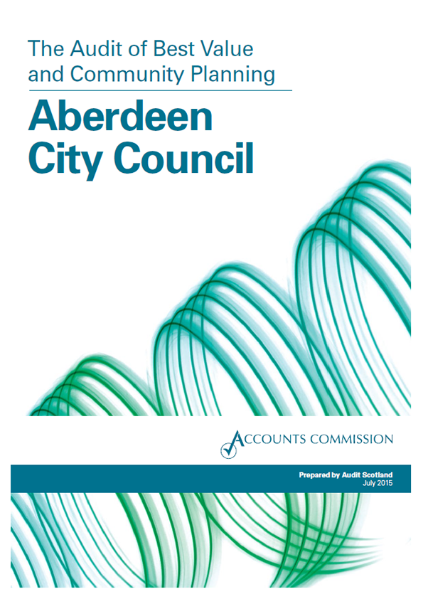 Report cover: Aberdeen City Council Best Value audit