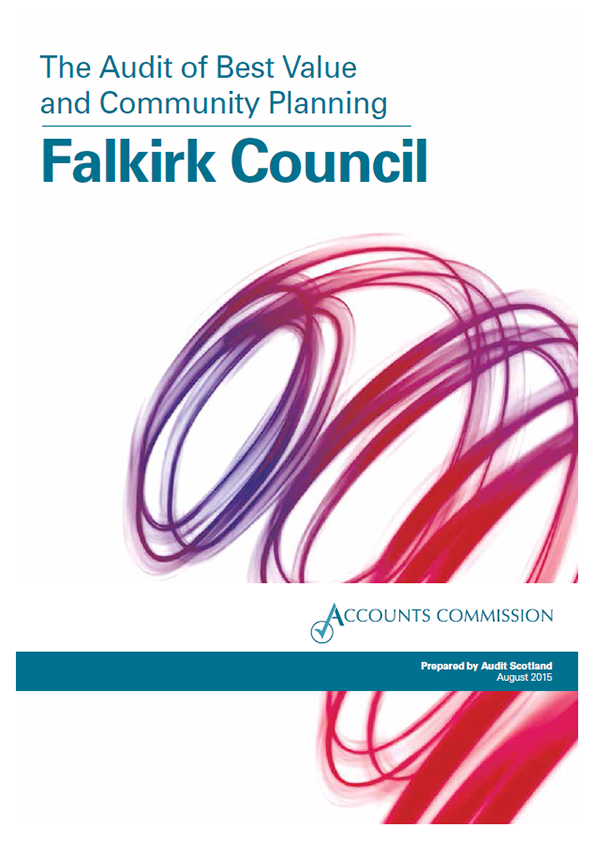 Report cover: Falkirk Council: the Audit of Best Value and Community Planning