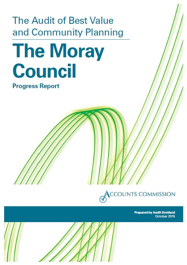 Report cover: The Moray Council: the Audit of Best Value and Community Planning - progress report