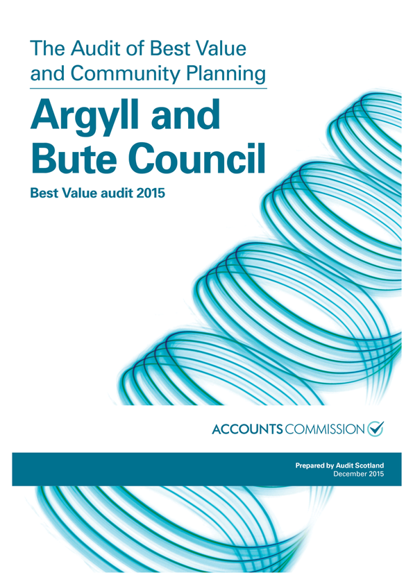 Report cover: Argyll and Bute Council: Best Value audit 2015