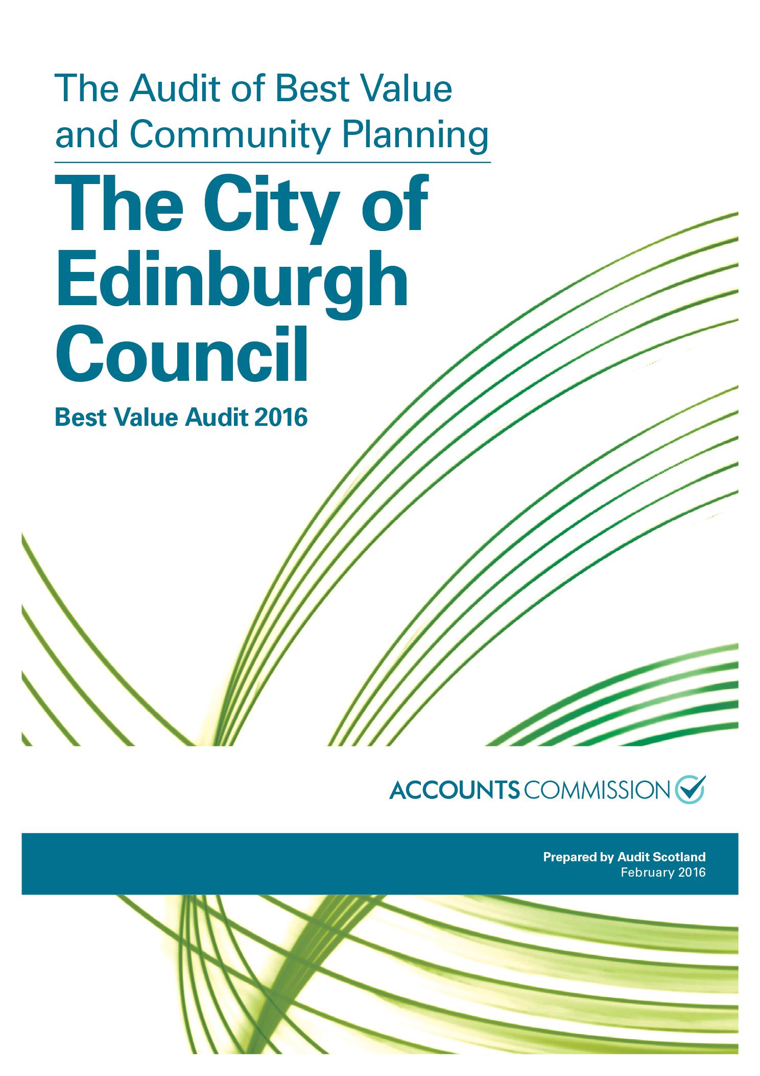 View The City of Edinburgh Council: Best Value Audit 2016