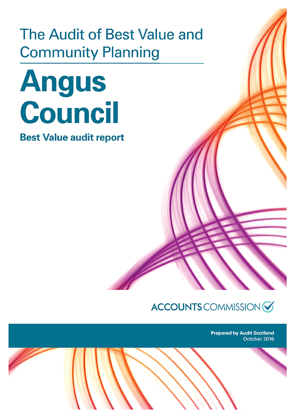 Report cover: Angus Council: Best Value audit report