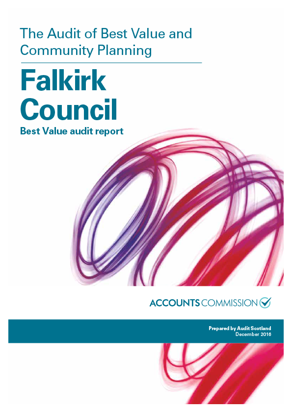 Report cover: Falkirk Council: Best Value audit report