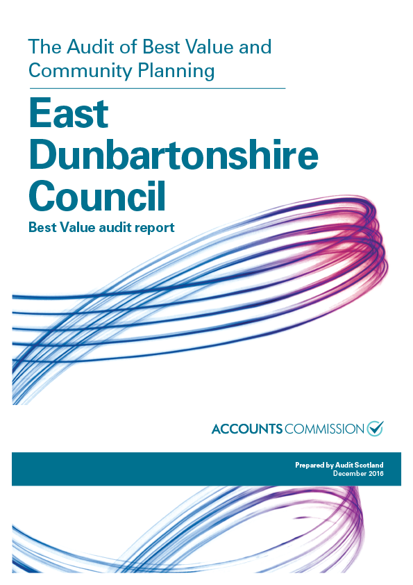 Report cover: East Dunbartonshire Council Best Value audit report