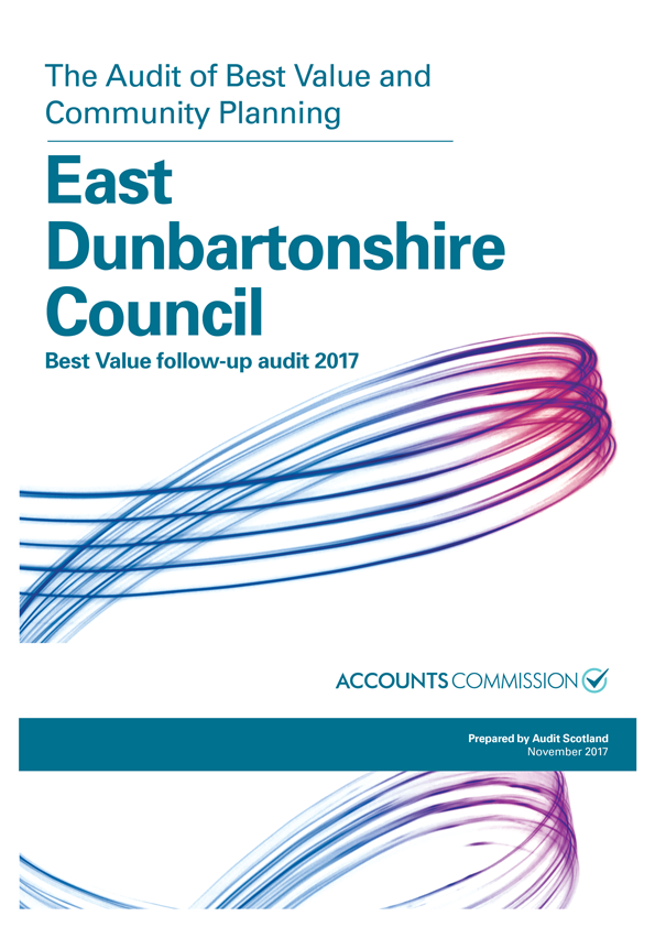 Report cover: East Dunbartonshire Council Best Value follow-up audit 2017