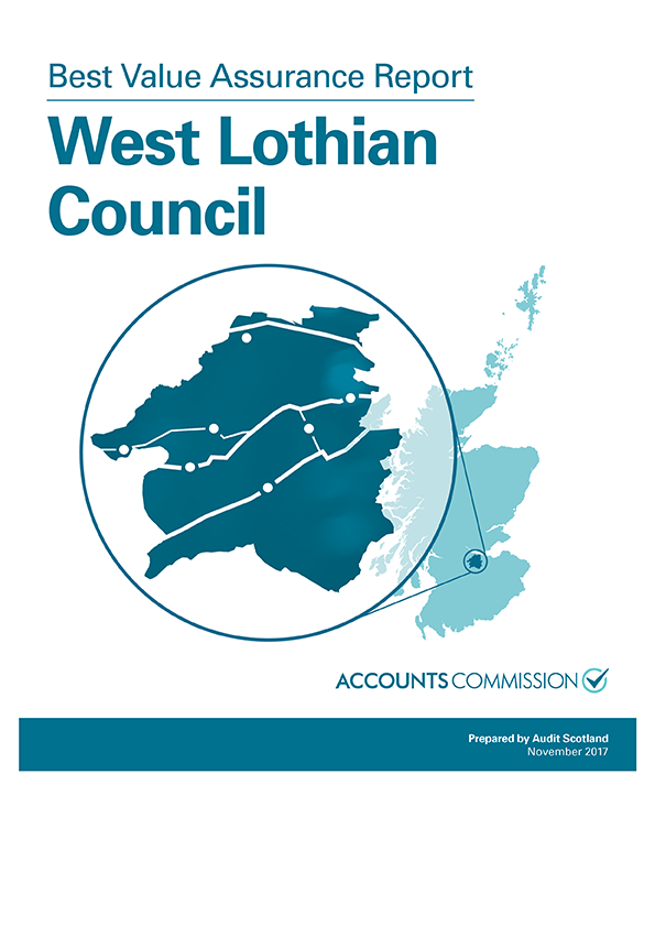 Report cover: Best Value Assurance Report: West Lothian Council