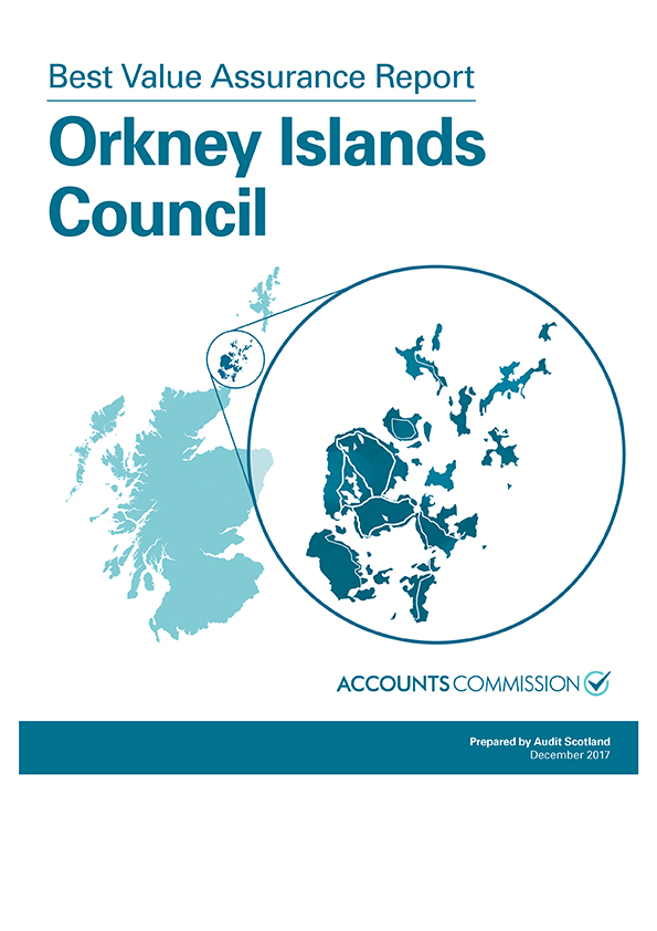 Report cover: Best Value Assurance Report: Orkney Islands Council