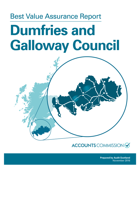 Report cover: Best Value Assurance Report: Dumfries and Galloway Council