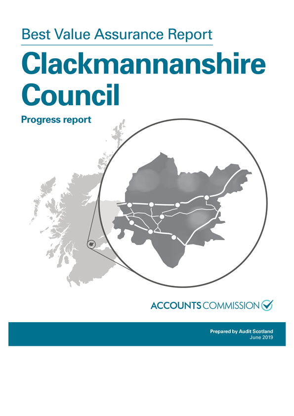 Report cover: Best Value Assurance Report: Clackmannanshire Council - progress report