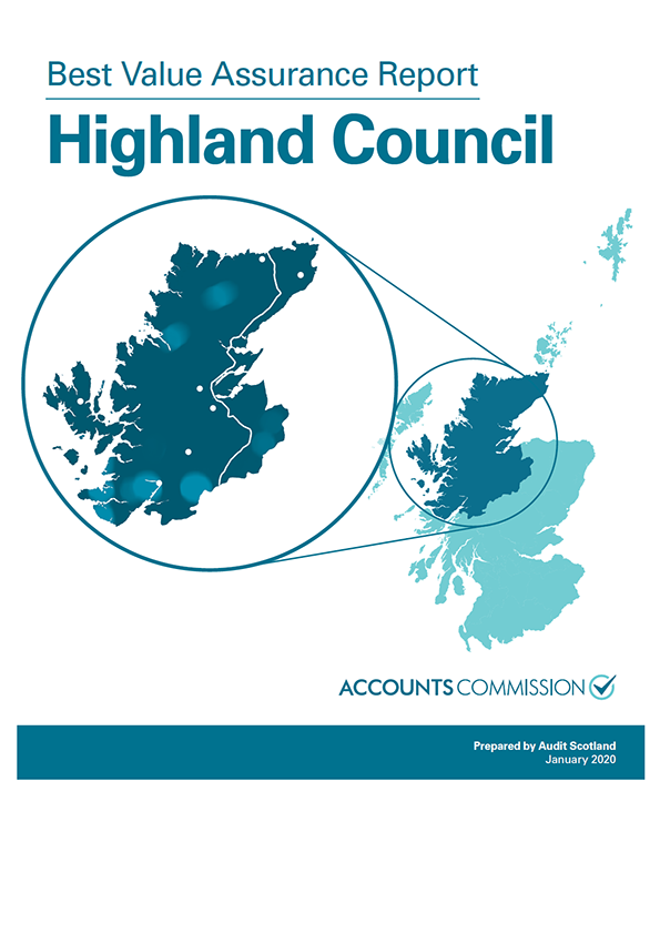Report cover: Best Value Assurance Report: Highland Council