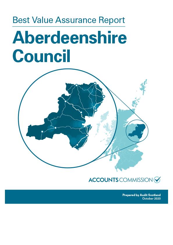 Report cover: Best Value Assurance Report: Aberdeenshire Council