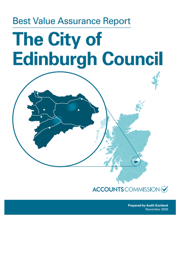 Report cover: Best Value Assurance Report: The City of Edinburgh Council