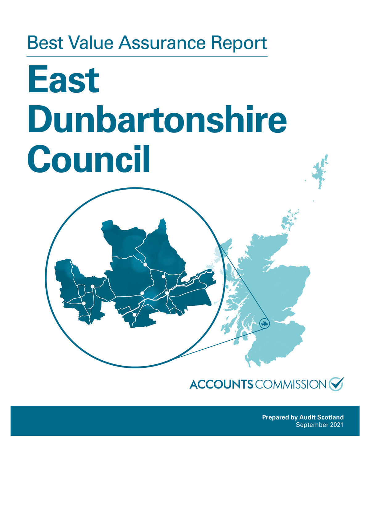 Report cover: Best Value Assurance Report: East Dunbartonshire Council