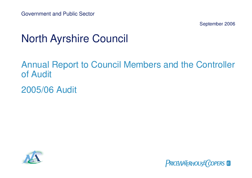 Report cover: North Ayrshire Council annual audit 2005/06