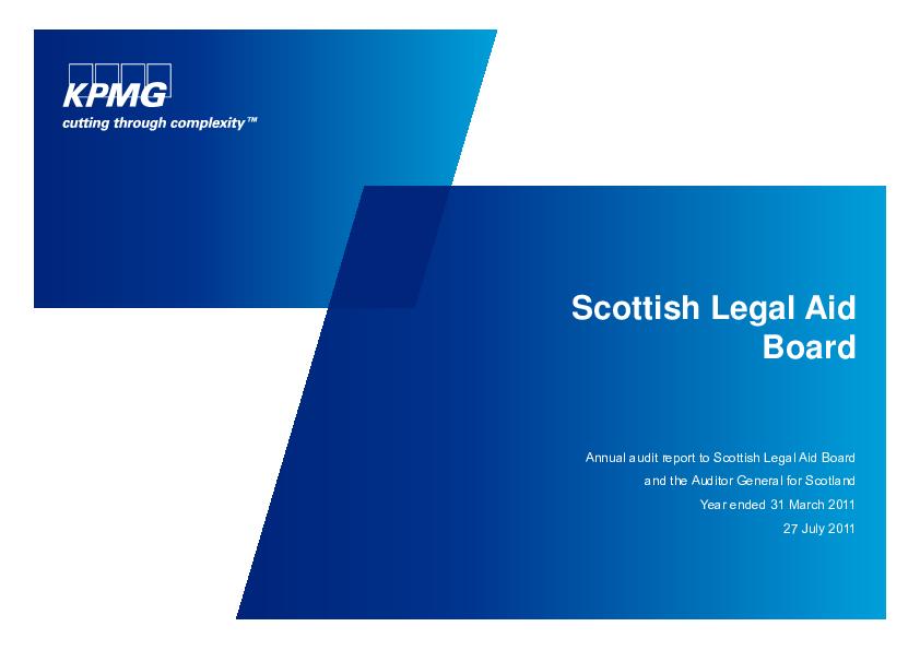 Scottish Legal Aid Board annual audit 2010/11 | Audit Scotland