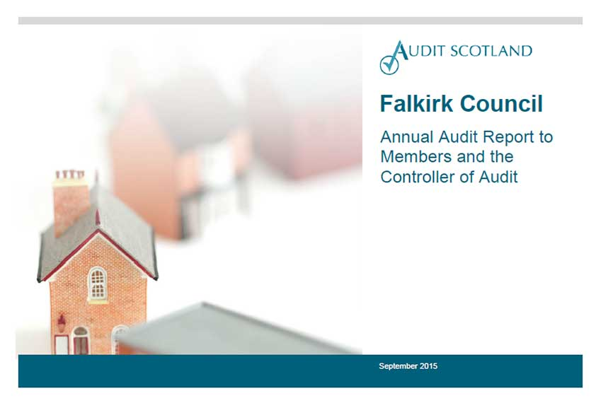 Report cover: Falkirk Council annual audit 2014/15