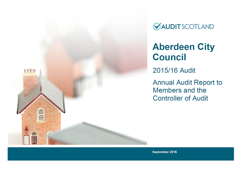 Report cover: Aberdeen City Council annual audit 2015/16