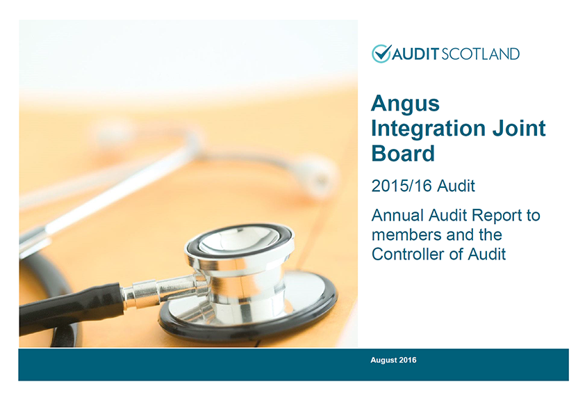 Report cover: Angus Integration Joint Board annual audit 2015/16
