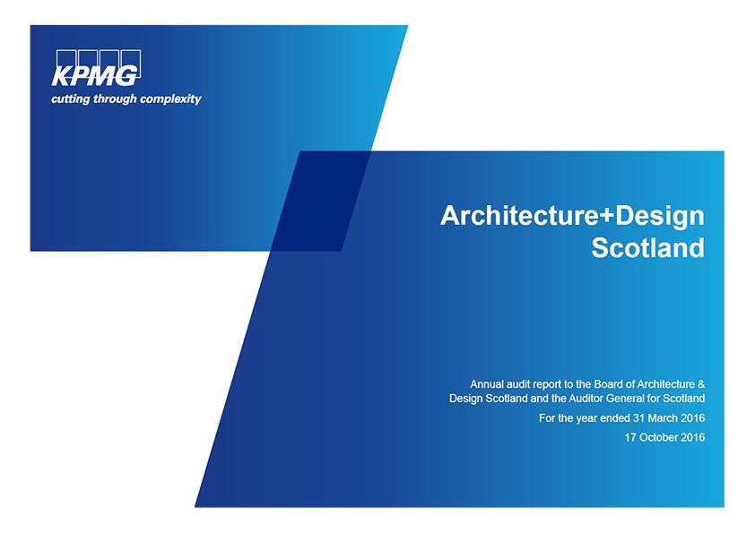 Report cover: Architecture and Design Scotland annual audit 2015/16