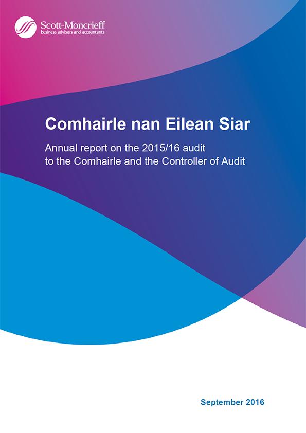 Report cover: Comhairle nan Eilean Siar annual audit 2015/16