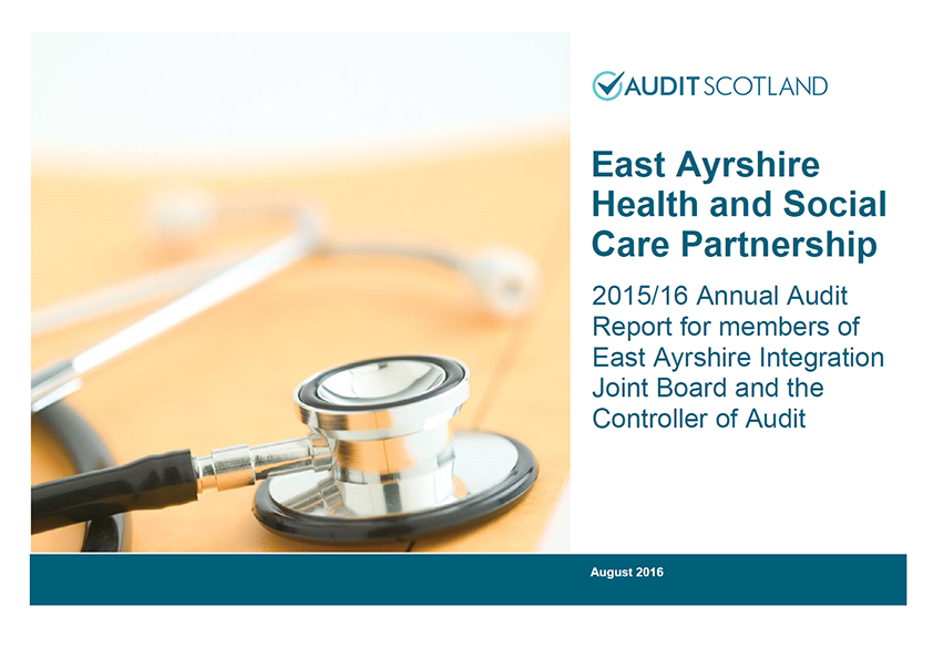 Report cover: East Ayrshire Health and Social Care Partnership annual audit 2015/16