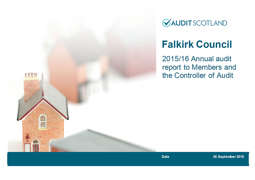 Report cover: Falkirk Council annual audit 2015/16