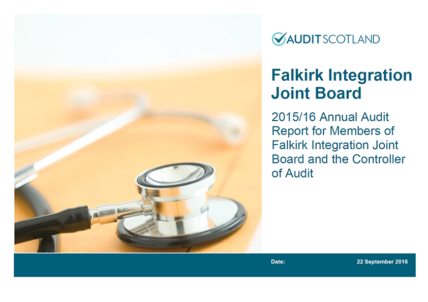 Report cover: Falkirk Integration Joint Board annual audit 2015/16