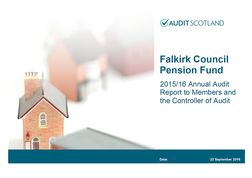 Report cover: Falkirk Council Pension Fund annual audit 2015/16