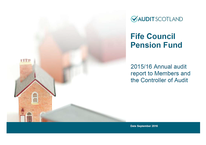 Report cover: Fife Council Pension Fund annual audit 2015/16