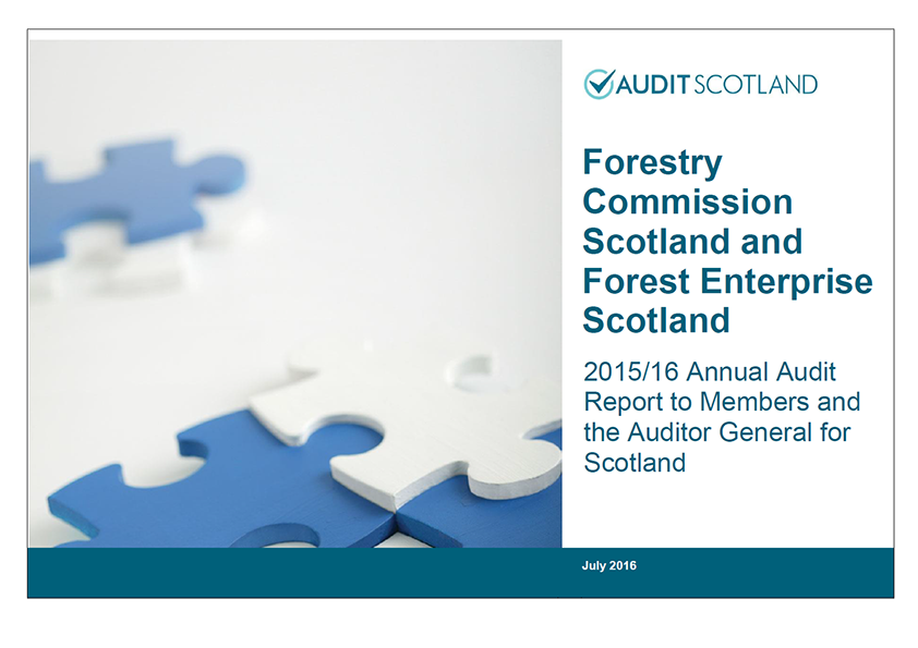 Report cover: Forestry Commission Scotland and Forest Enterprise Scotland annual audit 2015/16