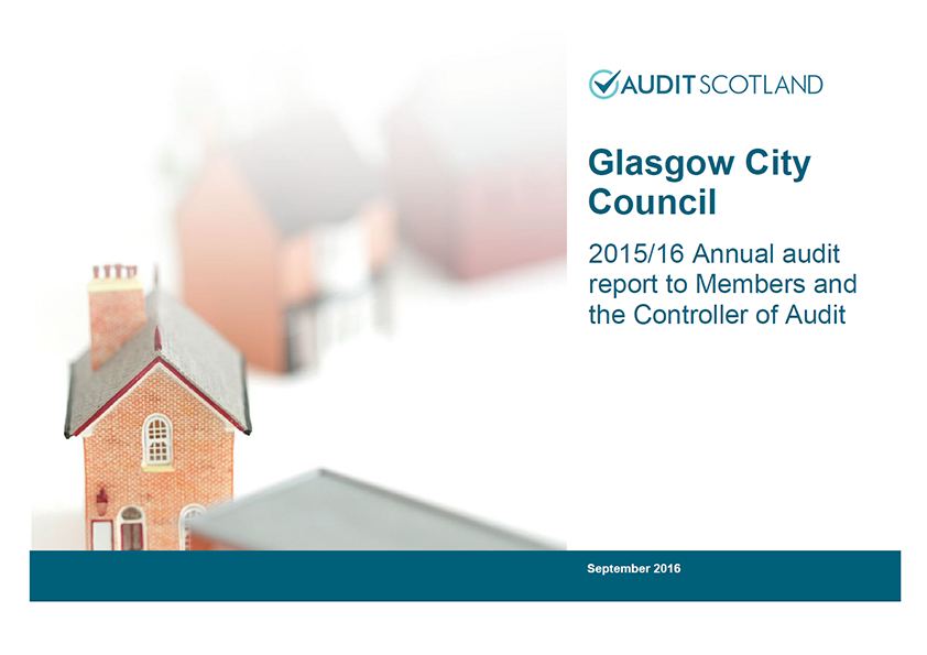 Report cover: Glasgow City Council annual audit 2015/16