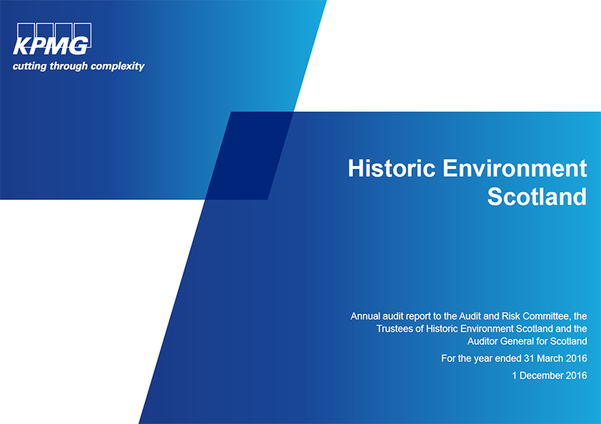 Report cover: Historic Environment Scotland annual audit 2015/16